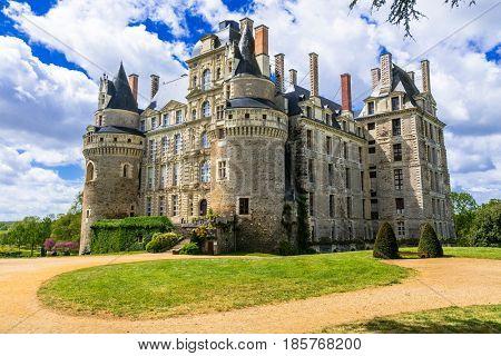 mysterious castles of France - Chateau de Brissac ,Loire valley