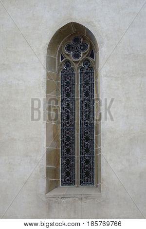 Levoca, Slovakia. Old architecture, gothic window