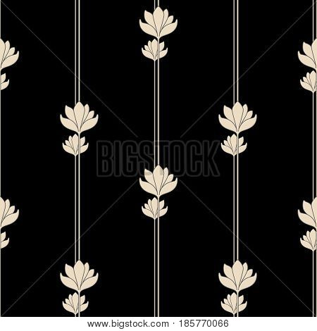 Vector seamless background with vintage art deco pattern for design print embroidery.