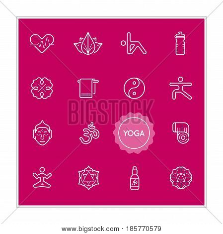 Set of Yoga Vector Illustration Elements can be used as Logo or Icon in premium quality EPS 10