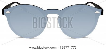 sun glasses gray mirror lenses isolated on white background