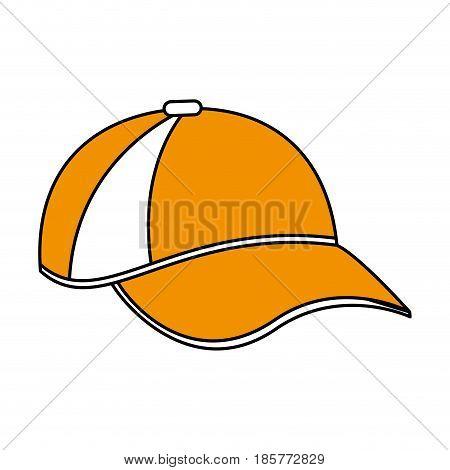 color silhouette cartoon sport cap headwear vector illustration
