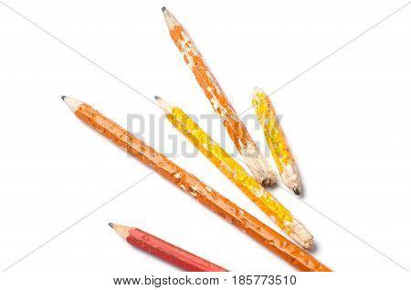 Bitten pencils, the concept of nervous work