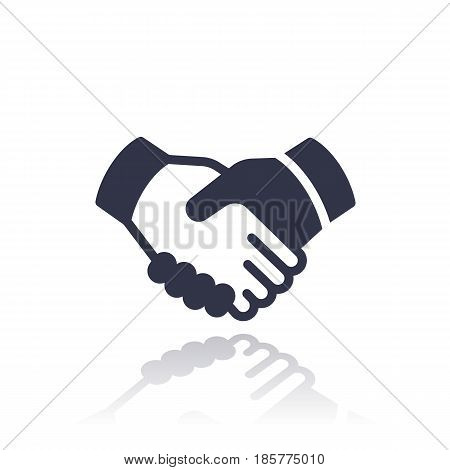 handshake, deal, partnership icon isolated over white