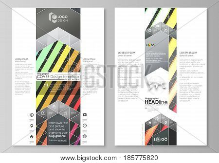 Blog graphic business templates. Page website design template, easy editable abstract flat layout, vector illustration. Bright color rectangles, colorful design with geometric rectangular shapes forming abstract beautiful background.