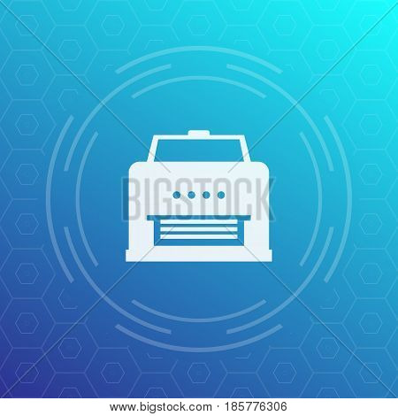 printer icon, vector pictogram, eps 10 file, easy to edit