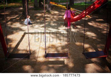 Three Swings And Children