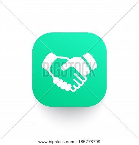 handshake, partnership icon, eps 10 file, easy to edit