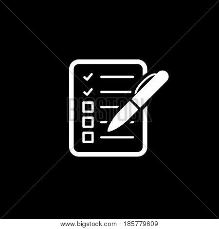 Check List Icon. Business Concept. Flat Design. Isolated Illustration