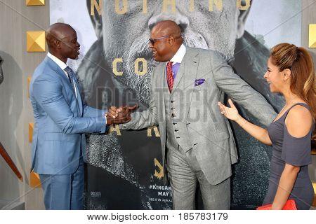 LOS ANGELES - MAY 8:  Djimon Hounsou, Chi McBride, Julissa McBride at the