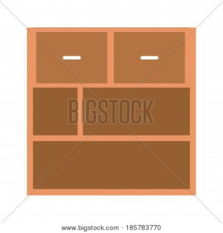 office cabinet with drawers wooden handle image vector illustration