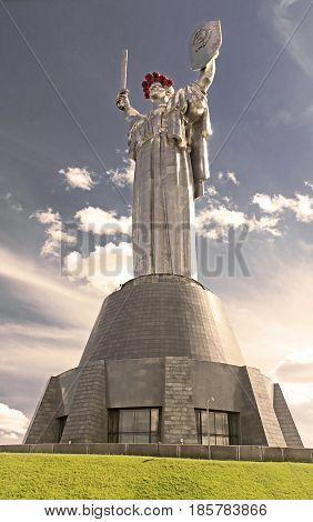 KYIV, UKRAINE - MAY 16, 2015: The monument