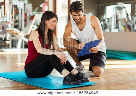 People working out together in a gym