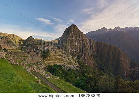Inca Machu Picchu Ancient Town