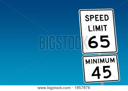 Speed Limit 65 - Minimum 45