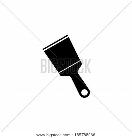 Spattle and Scraper solid icon, build repair elements, construction tool, a filled pattern on a white background, eps 10.