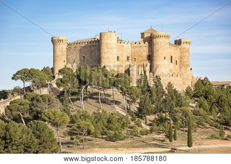 Castle in Belmonte town, province of Cuenca, Castilla La Mancha, Spain