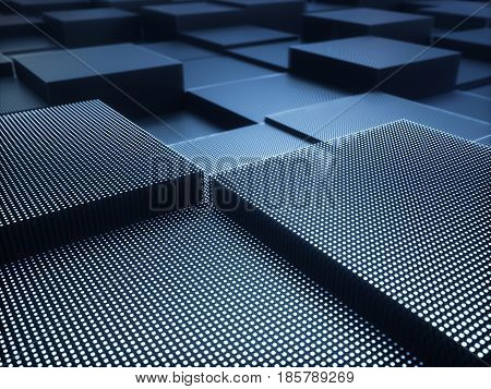 3D illustration. Abstract background of metallic structure.
