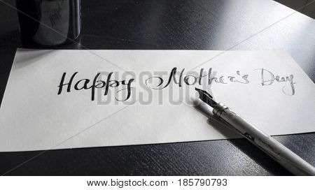 Happy Mothers's day calligraphy and lattering typographical design.