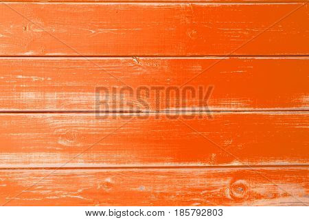Orange Wooden Background With Copy Space For Advertisement Or Your Free Text Here. Texture With Shabby Chic Or Vintage Style