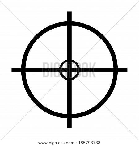 Crosshair Target Vector Symbol Icon Design.