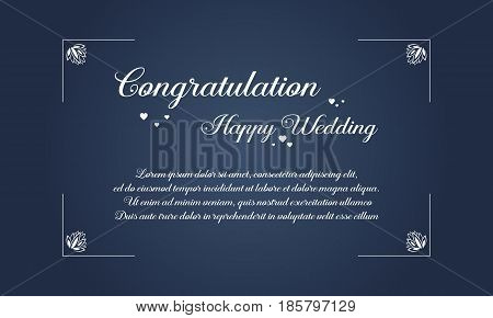 Collection stock wedding style invitation vector illustration