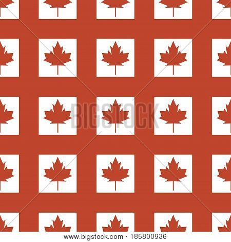 Canada country flag symbol maple leaf pattern seamless canadian background freedom nation decoration vector illustration. Symmetry autumn shape wrapping backdrop.