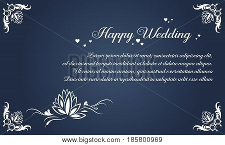 Collection stock simple invitation for wedding vector illustration