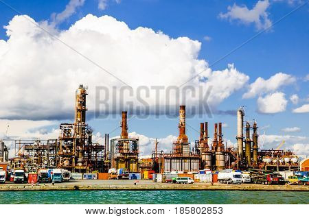 View Refinery in the port of Antwerp