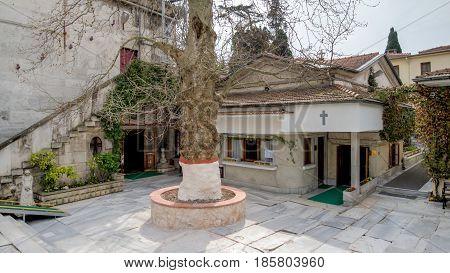 istanbul, Turkey - April 5 2015: The Monastery of the Mother of God, Zeytinburnu, Istanbul, Turkey
