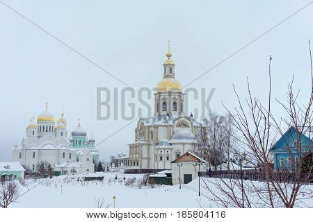 Diveyevo, Russia. - December 25.2016 Cathedral of the Annunciation of the Blessed Virgin Mary in Diveevo Convent