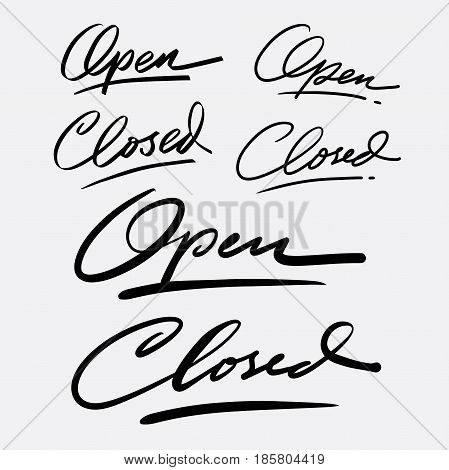 Open and closed hand written typography. Good use for logotype, symbol, cover label, product, brand, poster title or any graphic design you want. Easy to use or change color