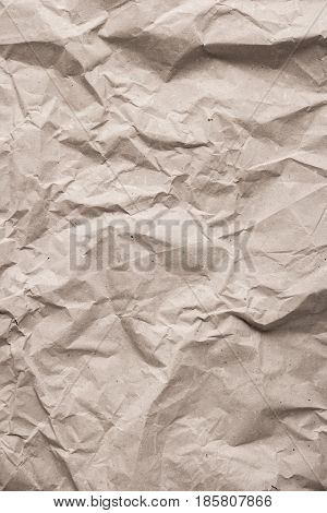 Crumpled paper texture. Recycled antique paper background
