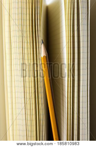 Pencil And Notebook Pages