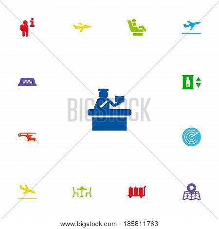Set Of 13 Airplane Icons Set.Collection Of Letdown, Vip, Location And Other Elements.