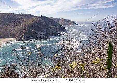 Coastal headlands by the Mexican Pacific Ocean Cabo Corrientes Jalisco