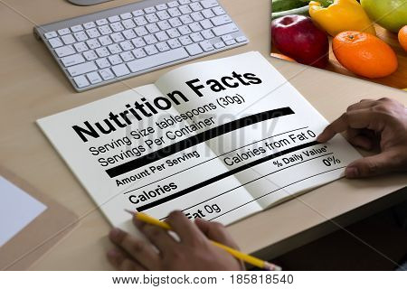 Nutrition Facts Gluten Free Food  Celiac Disease Nutrition , Healthy Lifestyle Concept With Diet And