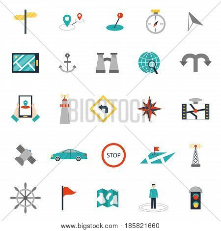 Navigation outline location pin pictogram direction and search design earth web icons global pointer set map thin sign vector illustration. Website interface message distance symbol.