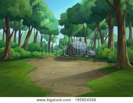 Illustration of an outdoor to have jungle plenteous