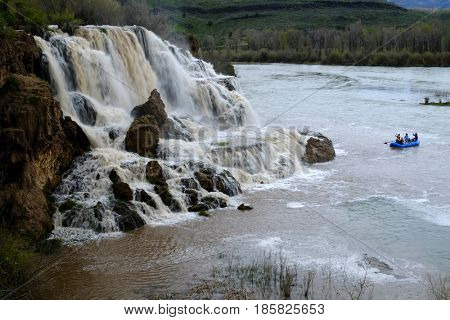 Fall Creek Water Falls with Snake River flowing