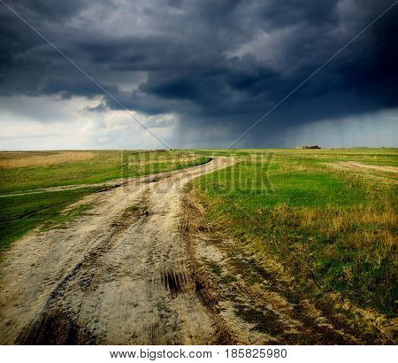 dirt road after rain