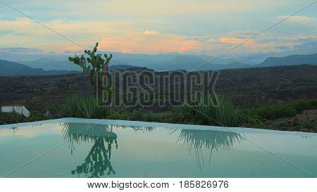 Sunset in the Desierto de la Tatacoa (Tatacoa Desert) in Villavieja, Huila / Colombia
