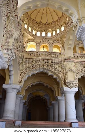 Madurai, Tamilnadu - India - March 21, 2017 - Tirumalai Nayak Palace At Madurai