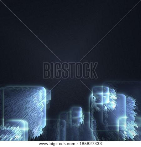 abstract blue background of glossy squares