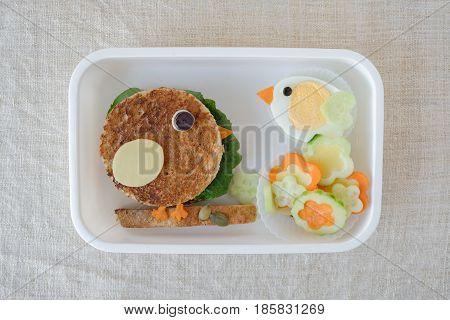 Bird Lunch Box, Fun Food Art For Kids
