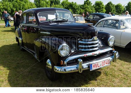 PAAREN IM GLIEN GERMANY - MAY 19: Luxury car Opel Kapitan The oldtimer show in MAFZ May 19 2013 in Paaren im Glien Germany