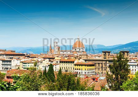 Panoramic View Of  Florence, Italy.