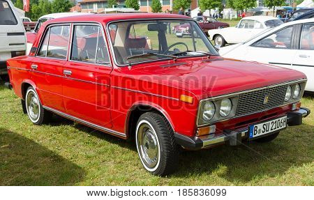 PAAREN IM GLIEN GERMANY - MAY 19: Soviet medium-sized family car 4-door sedan VAZ-2106 The oldtimer show in MAFZ May 19 2013 in Paaren im Glien Germany