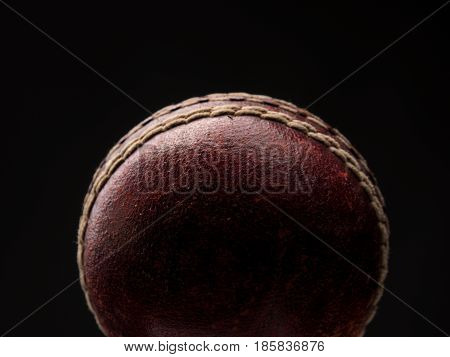 Old vintage throw ball on a dark background