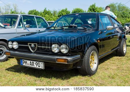 PAAREN IM GLIEN GERMANY - MAY 19: Three-door coupe Alfa Romeo Sprint The oldtimer show in MAFZ May 19 2013 in Paaren im Glien Germany